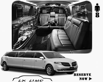 Stretch Wedding Limo for hire in Fresno, ON, Canada